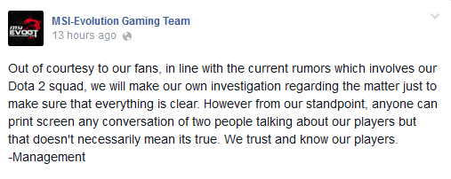 msi statement